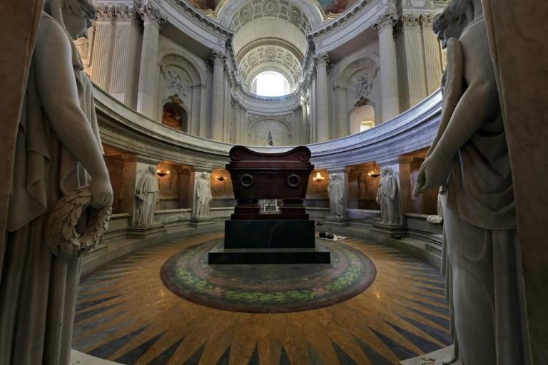 Napoleon's tomb under the dome of the Hotel des Invalides in Paris