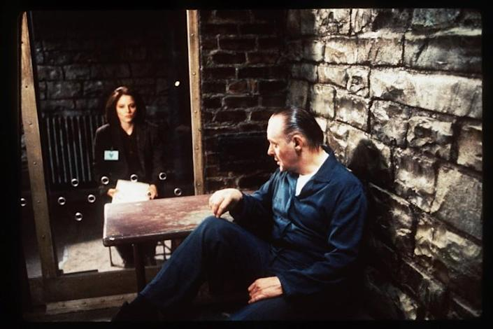 "Jodie Foster and Anthony Hopkins in ""The Silence of the Lambs."""