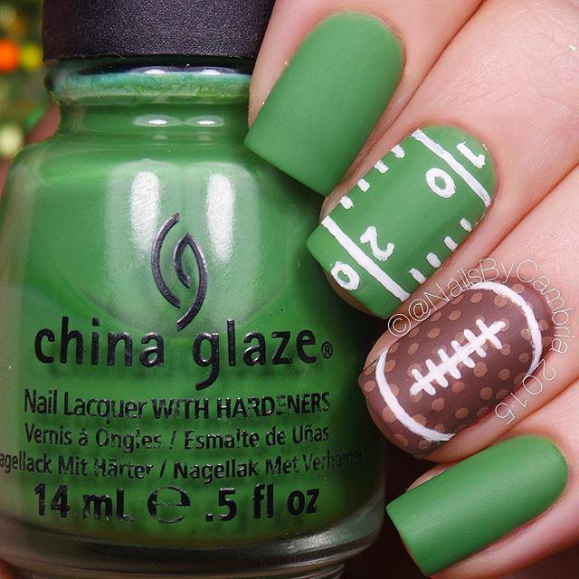 """<p>This sweet nail design is a fantastic way to show off your school spirit just in time for football season.</p><p><a class=""""link rapid-noclick-resp"""" href=""""https://www.amazon.com/OPI-Nail-Lacquer-Coat-Matte/dp/B0001435D4/ref=sr_1_1_sspa?tag=syn-yahoo-20&ascsubtag=%5Bartid%7C10055.g.22590646%5Bsrc%7Cyahoo-us"""" rel=""""nofollow noopener"""" target=""""_blank"""" data-ylk=""""slk:SHOP MATTE TOP COAT"""">SHOP MATTE TOP COAT</a></p><p><a href=""""https://www.instagram.com/p/9ypSimJ4up/?taken-by=nailsbycambria&hidecaption=true"""" rel=""""nofollow noopener"""" target=""""_blank"""" data-ylk=""""slk:See the original post on Instagram"""" class=""""link rapid-noclick-resp"""">See the original post on Instagram</a></p>"""