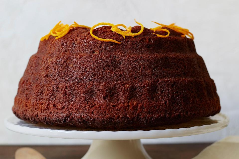 """Cake that tastes like dessert but can be eaten for breakfast, midmorning tea, or afternoon snack is a blessing indeed—don't forget to enjoy it. This pastry is easy but elegant, combining the sweetness of honey, the richness of coffee, and the earthiness of rye flour. <a href=""""https://www.epicurious.com/recipes/food/views/orange-spiced-rye-honey-cake-gefilte-manifesto-recipe?mbid=synd_yahoo_rss"""" rel=""""nofollow noopener"""" target=""""_blank"""" data-ylk=""""slk:See recipe."""" class=""""link rapid-noclick-resp"""">See recipe.</a>"""