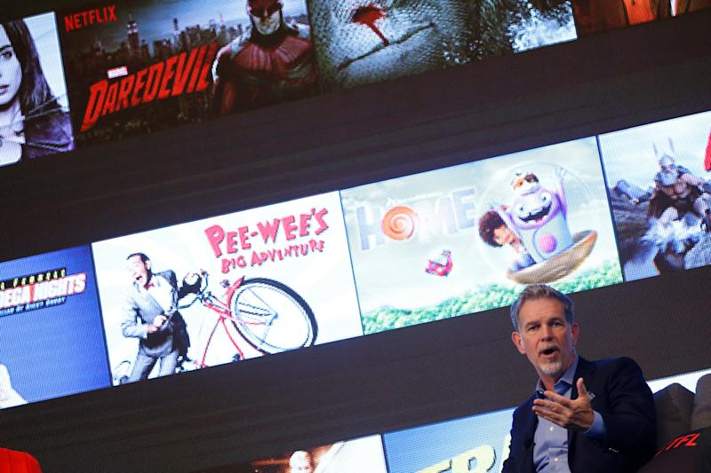 Netflix shares surge seven percent on subscriber gains