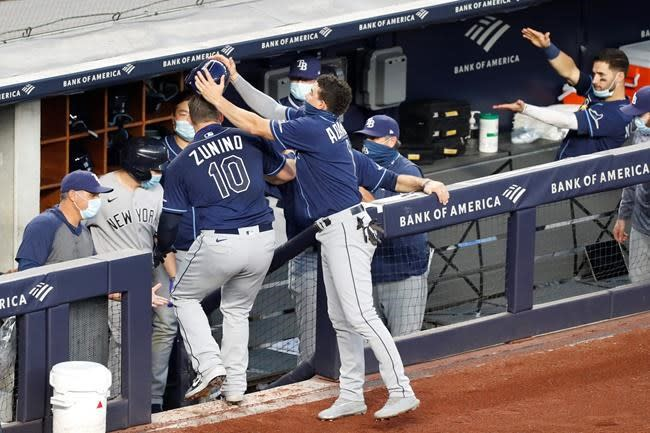 Rays beat Yankees again 4-2; Cole's streak intact after ND