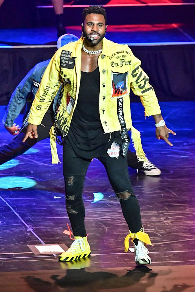 <p>Jason Derulo performed at The Met Philadelphia during the virtual Wawa Welcome America festival.</p>