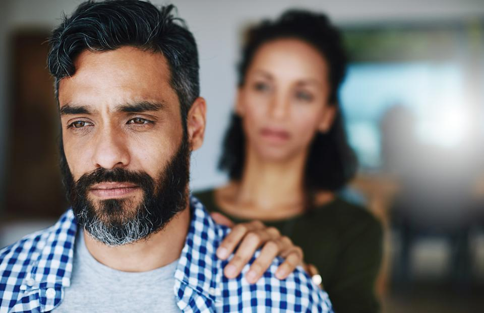 Experts want to encourage men to open up about their mental health struggles [Photo: Getty]