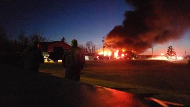 The Shinimicas fire hall and three trucks were destroyed in a fire last year