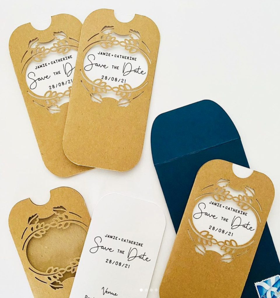 save the date wedding invitations made with a cricut