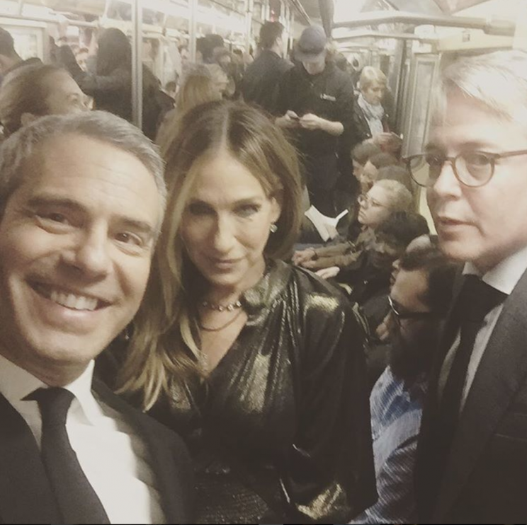 Sarah Jessica Parker and Matthew Broderick spent a night out with Andy Cohen. (Photo: Andy Cohen via Instagram)