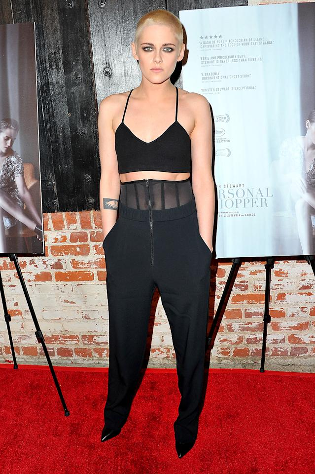 "<p>K-Stew is so cool — and pretty — that she can pull off just about any look, including the platinum blond buzz cut she debuted at the L.A. premiere of <em>Personal Shopper</em>. The actress explained she changed things up for her upcoming role in <em>Underwater. ""</em>I play a mechanical engineer that's working on an oil rig that's on the bottom of the ocean floor,"" she said on <em>Today</em>, noting that she's going to be spending a lot of time wearing a helmet. ""For me it's practical!"" (Photo: Allen Berezovsky/Getty Images for Fashion Media) </p>"
