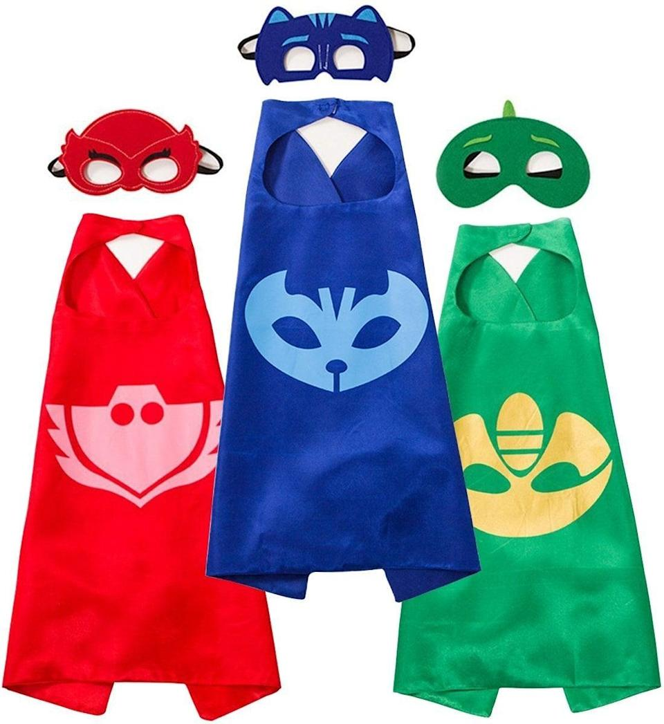 "<p>This set of <a href=""https://www.popsugar.com/buy/RioRand-Masks-Costumes-490904?p_name=RioRand%20Masks%20and%20Costumes&retailer=amazon.com&pid=490904&price=13&evar1=moms%3Aus&evar9=25800161&evar98=https%3A%2F%2Fwww.popsugar.com%2Fphoto-gallery%2F25800161%2Fimage%2F44870059%2FRioRand-Masks-Costumes&list1=gifts%2Camazon%2Choliday%2Ctoys%2Cgift%20guide%2Cparenting%2Cbabies%2Cgifts%20for%20kids%2Ckid%20shopping%2Choliday%20living%2Choliday%20for%20kids%2Cgifts%20for%20toddlers%2Cbest%20of%202019&prop13=api&pdata=1"" class=""link rapid-noclick-resp"" rel=""nofollow noopener"" target=""_blank"" data-ylk=""slk:RioRand Masks and Costumes"">RioRand Masks and Costumes</a> ($13) will make little ones feel like superheroes. </p>"