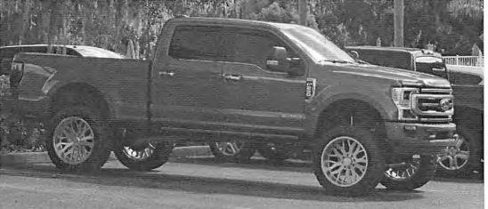 Federal authorities said they photographed Keith William Nicoletta driving this 2020 special-edition Ford F-250 pickup truck from his Dade City home to a local country club where he played golf. (Photo: www.justice.gov)