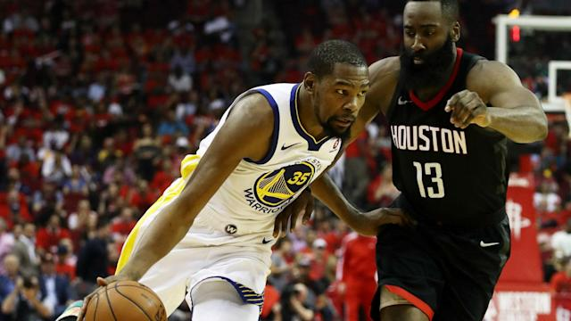 How Kevin Durant scored all of his points in Games 1 and 2 against the Rockets was decidedly un-Warriors-like.