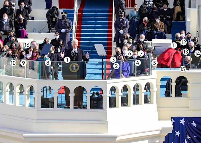 <p>A who's who at President Biden's inauguration</p> (Getty Images)