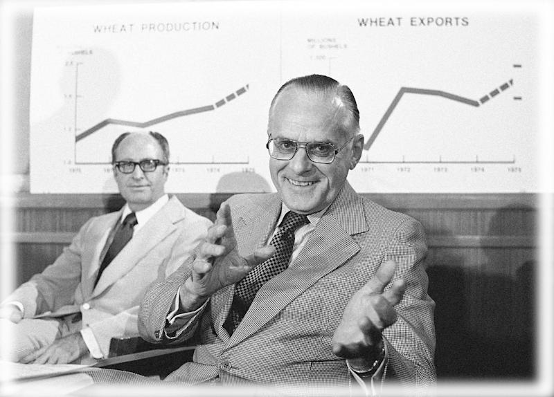Agriculture Secretary Earl L. Butz in 1975. (Photo: Charles Bennett/AP)
