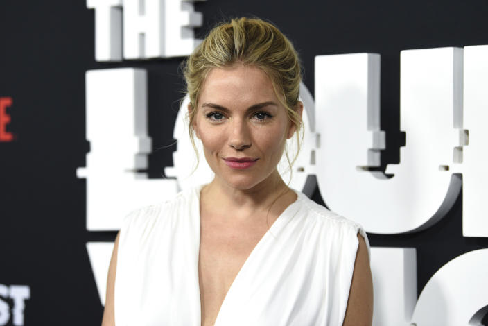 """Actress Sienna Miller attends the premiere of the ShowTime limited series """"The Loudest Voice,"""" at the Paris Theatre, Monday, June 24, 2019, in New York. (Photo by Evan Agostini/Invision/AP)"""