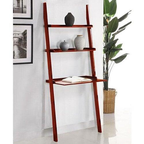 """<h3>Winston Porter Tyriq Ladder Bookcase</h3><a href=""""https://www.target.com/p/corner-desk-with-hutch-buylateral/-/A-53237557"""" rel=""""nofollow noopener"""" target=""""_blank"""" data-ylk=""""slk:"""" class=""""link rapid-noclick-resp""""><br></a>If you're lacking horizontal space, then build up with a tall leaning desk that offers optimized vertical storage. <br><br><strong>Winston Porter</strong> Walnut Tyriq Ladder Bookcase, $, available at <a href=""""https://go.skimresources.com/?id=30283X879131&url=https%3A%2F%2Fwww.wayfair.com%2Ffurniture%2Fpdp%2Fwinston-porter-tyriq-ladder-bookcase-w002775646.html"""" rel=""""nofollow noopener"""" target=""""_blank"""" data-ylk=""""slk:Wayfair"""" class=""""link rapid-noclick-resp"""">Wayfair</a>"""