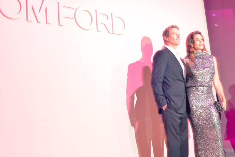 Rande Gerber and Cindy Crawford attend the Tom Ford Spring 2018 runway show as part of New York Fashion Week.
