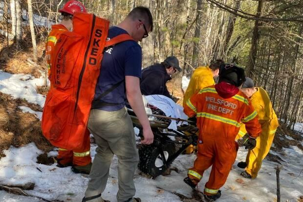 A 16-year-old hiker is rescued from close to the summit of Mount Douglas, near Welsford, on Sunday.  (WVFD/Facebook - image credit)