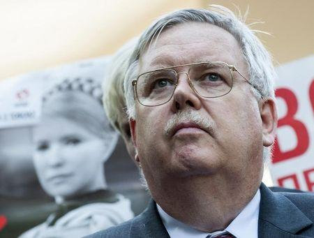U.S. ambassador to Ukraine Tefft meets media after visiting jailed Ukrainian opposition leader Tymoshenko in Kharkiv