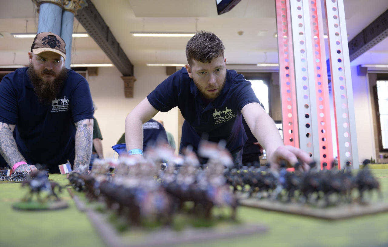 Committed: It took a total of 55,000 man hours to paint the soldiers.
