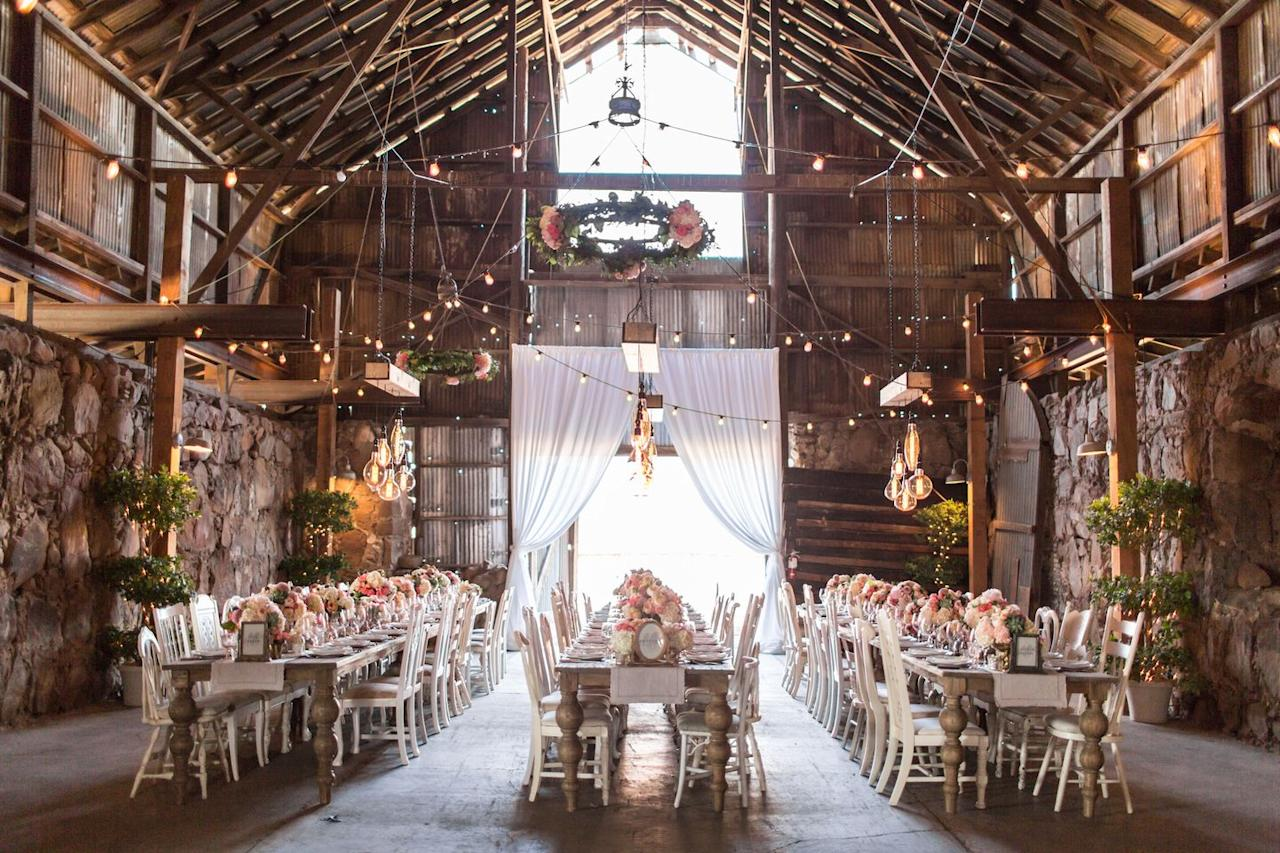 """<p>Whether you're looking to go full glamour, or prefer something a little more low-key, <a href=""""https://historicsantamargaritaranch.com/"""" target=""""_blank"""">Santa Margarita Ranch</a> is the perfect outdoor oasis for a natural autumn wedding. From the barn to the gardens to the bridal cottage and ranch, no matter what wedding you're looking to throw, this venue has it all. </p>"""