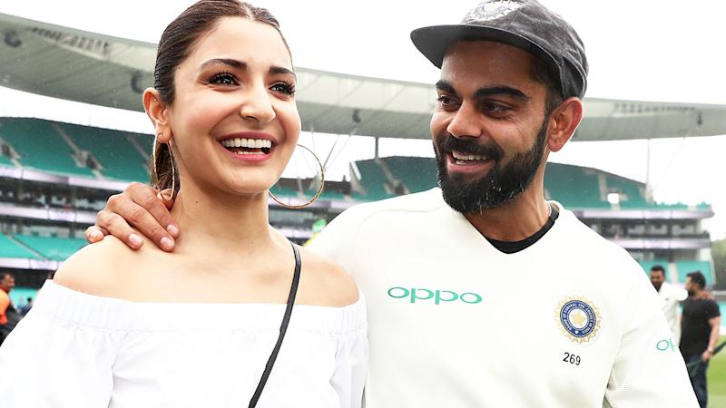 Virat Kohli and wife Anushka Sharma in Sydney in January after a Test against Australia. (Photo by Matt King - CA/Cricket Australia/Getty Images)