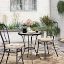 <p>Transform your space into a swanky French bistro with this <span>Smith &amp; Hawken Metal Farmhouse 3pc Patio Bistro Set</span> ($170, originally $200).</p>