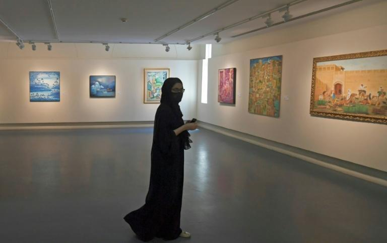 Work depicting the killing of Palestinians to daily life in Yemen's Old City of Sanaa come alive in the Gulf emirate of Sharjah
