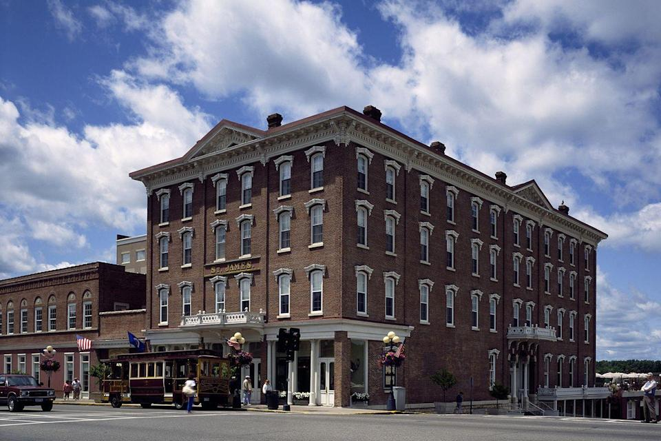 "<p>The thriving wheat market in <span class=""redactor-unlink"">Red Wing</span> during the early 1870s created a need for a comfortable place for tourists and businesses passing through, resulting in this 62-room hotel. Though it may not feel as extravagant as it did back in those days, it's still a storied spot for lodging in town.<br></p><p><strong>EXPLORE NOW</strong>: <a href=""https://www.tripadvisor.com/Hotel_Review-g43452-d493220-Reviews-St_James_Hotel_Est_1875-Red_Wing_Minnesota.html"" rel=""nofollow noopener"" target=""_blank"" data-ylk=""slk:The St. James Hotel"" class=""link rapid-noclick-resp"">The St. James Hotel</a></p>"