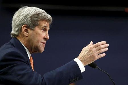U.S. Secretary of State Kerry testifies before a House Appropriations subcommittee in Washington