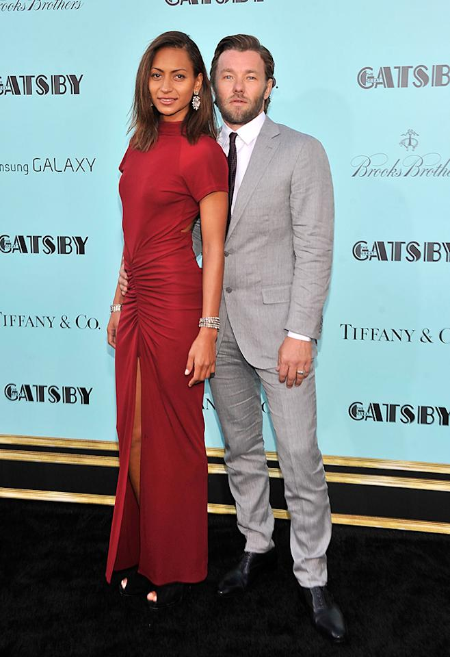 "Alexis Blake and Joel Edgerton attend the ""The Great Gatsby"" world premiere at Avery Fisher Hall at Lincoln Center for the Performing Arts on May 1, 2013 in New York City."