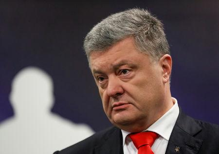 Ukraine's President and presidential candidate Petro Poroshenko speaks after a drugs and alcohol test in Kiev