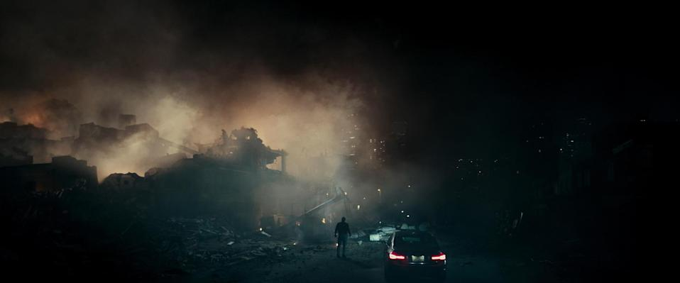Something wicked awaits in the shadows in <i>The Cloverfield Paradox</i> (Photo: Netflix)