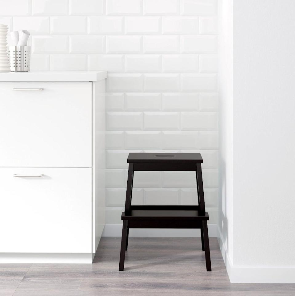 "<p>Use this small <a href=""https://www.popsugar.com/buy/Bekv%C3%A4m%20Step%20Stool-447021?p_name=Bekv%C3%A4m%20Step%20Stool&retailer=ikea.com&price=20&evar1=casa%3Aus&evar9=46151613&evar98=https%3A%2F%2Fwww.popsugar.com%2Fhome%2Fphoto-gallery%2F46151613%2Fimage%2F46152211%2FBekv%C3%A4m-Step-Stool&list1=shopping%2Cikea%2Corganization%2Ckitchens%2Chome%20shopping&prop13=api&pdata=1"" rel=""nofollow noopener"" target=""_blank"" data-ylk=""slk:Bekväm Step Stool"" class=""link rapid-noclick-resp"">Bekväm Step Stool</a> ($20) to reach high places or display small kitchen plants and herbs.</p>"