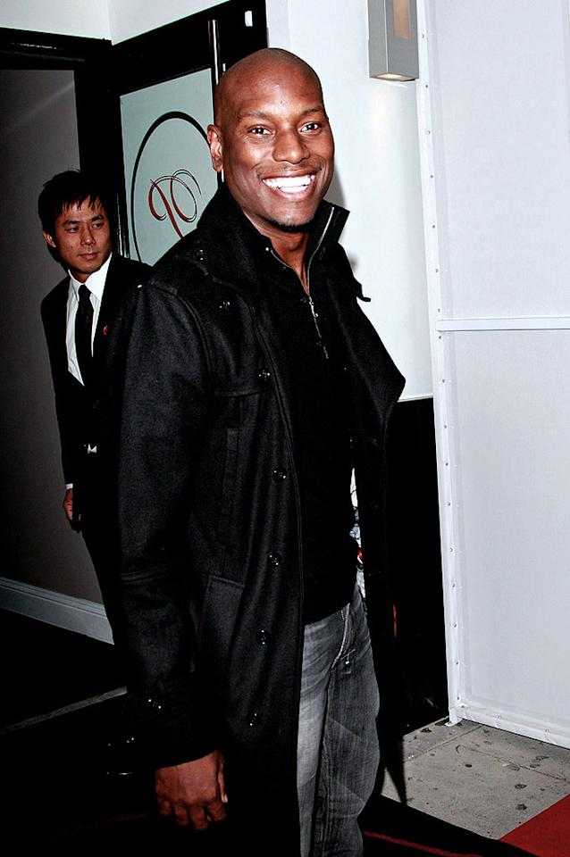 "Tyrese Gibson can't wait to chow down on some fancy Chinese food! CH/<a href=""http://www.splashnewsonline.com/"" target=""new"">Splash News</a> - October 12, 2009"