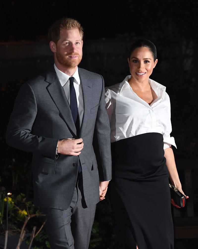 The Duke and Duchess of Sussex arriving at the Endeavour Fund Awards at Draper's Hall, London.  (Photo: Doug Peters/EMPICS Entertainment)
