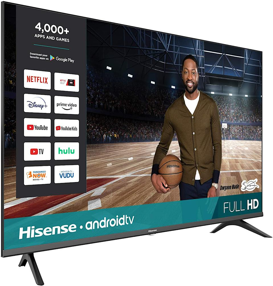 Snag this Hisense 43-inch Class HD Android Smart TV for just $200. (Photo: Amazon)