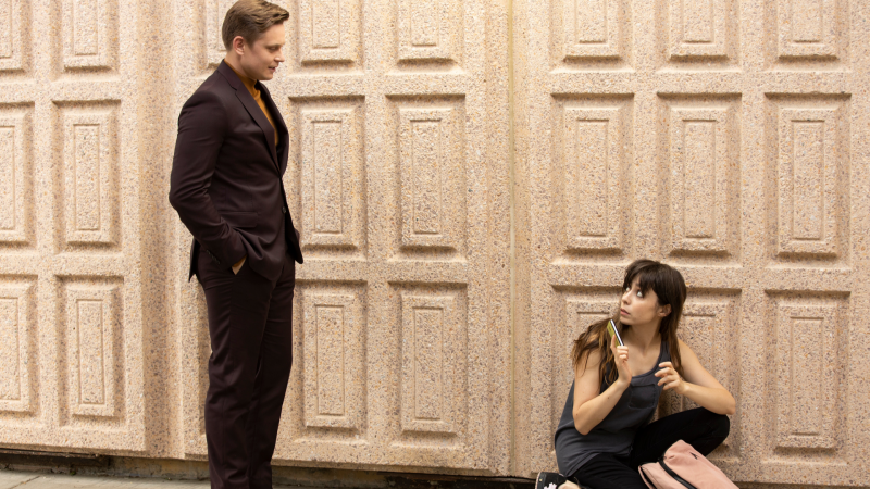 Billy Magnussen and Cristin Milioti in Made For Love