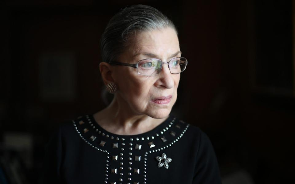 Ruth Bader Ginsburg, in her chambers at the Supreme Court in Washington, August 23, 2013