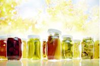 """<p>Pickles and other fermented foods (like kimchi and sauerkraut) are loaded with <a href=""""https://www.prevention.com/weight-loss/a21528828/probiotics-weight-loss/"""" rel=""""nofollow noopener"""" target=""""_blank"""" data-ylk=""""slk:probiotics"""" class=""""link rapid-noclick-resp"""">probiotics</a>, the good bacteria in your gut that impact your immune function, mood, digestion, and even your weight.</p>"""