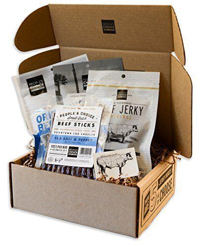 """<p><strong>People's Choice Beef Jerky</strong></p><p>amazon.com</p><p><strong>$28.99</strong></p><p><a href=""""https://www.amazon.com/dp/B01N4UW2TG?tag=syn-yahoo-20&ascsubtag=%5Bartid%7C10050.g.32072808%5Bsrc%7Cyahoo-us"""" rel=""""nofollow noopener"""" target=""""_blank"""" data-ylk=""""slk:Shop Now"""" class=""""link rapid-noclick-resp"""">Shop Now</a></p><p>This beef jerky gift box won't be the worst thing he ingests at school, and at least you'll know he will eat it! </p>"""