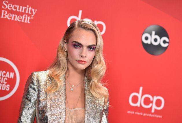 Delevingne attends the 2020 American Music Awards on Nov. 22, 2020 in Los Angeles. (Photo: ABC via Getty Images)