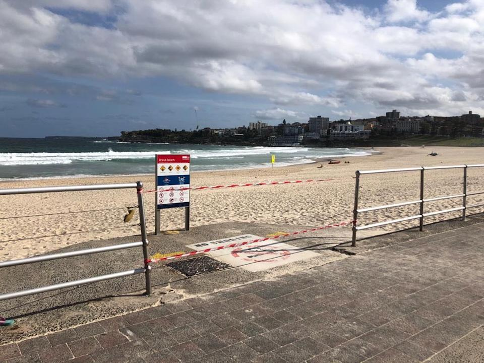 Bondi Beach unrecognisable on Saturday afternoon. Source: Supplied