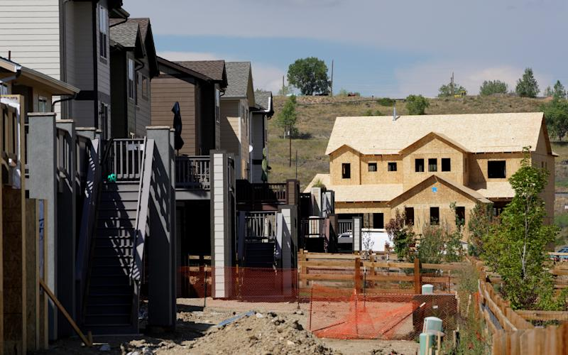 A construction site of new homes is seen at Leyden Rock in Arvada, Colorado August 30, 2016. REUTERS/Rick Wilking
