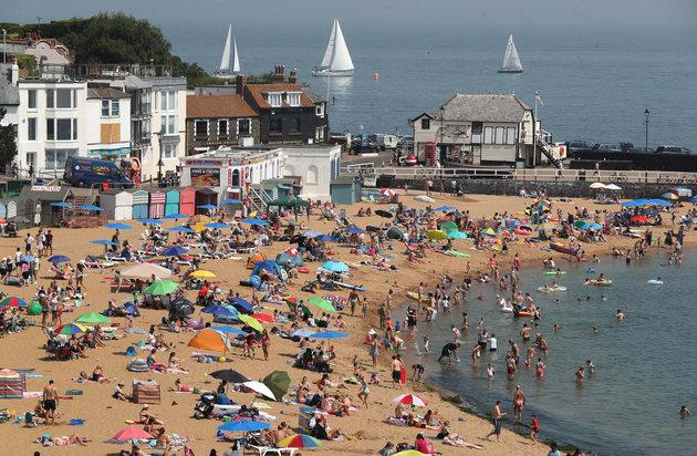 The beach in Broadstairs, Kent, was busier than usual this summer
