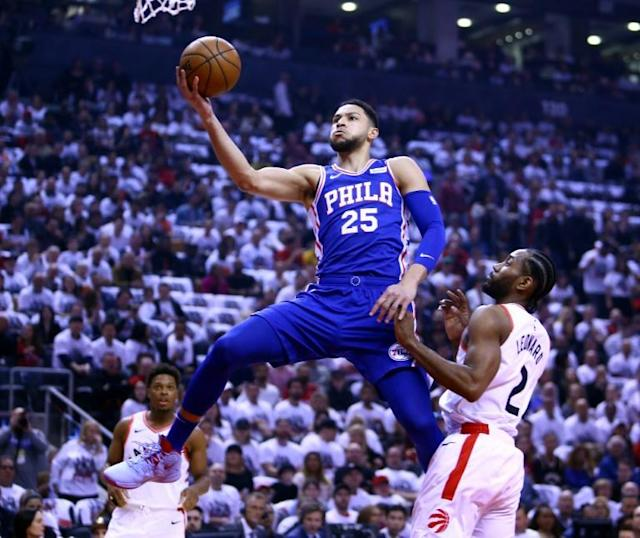 Philadelphia 76ers star Ben Simmons, seen here in an NBA playoff game against Toronto, says he won't play for Australia at the 2019 FIBA World Cup in China (AFP Photo/Vaughn Ridley)