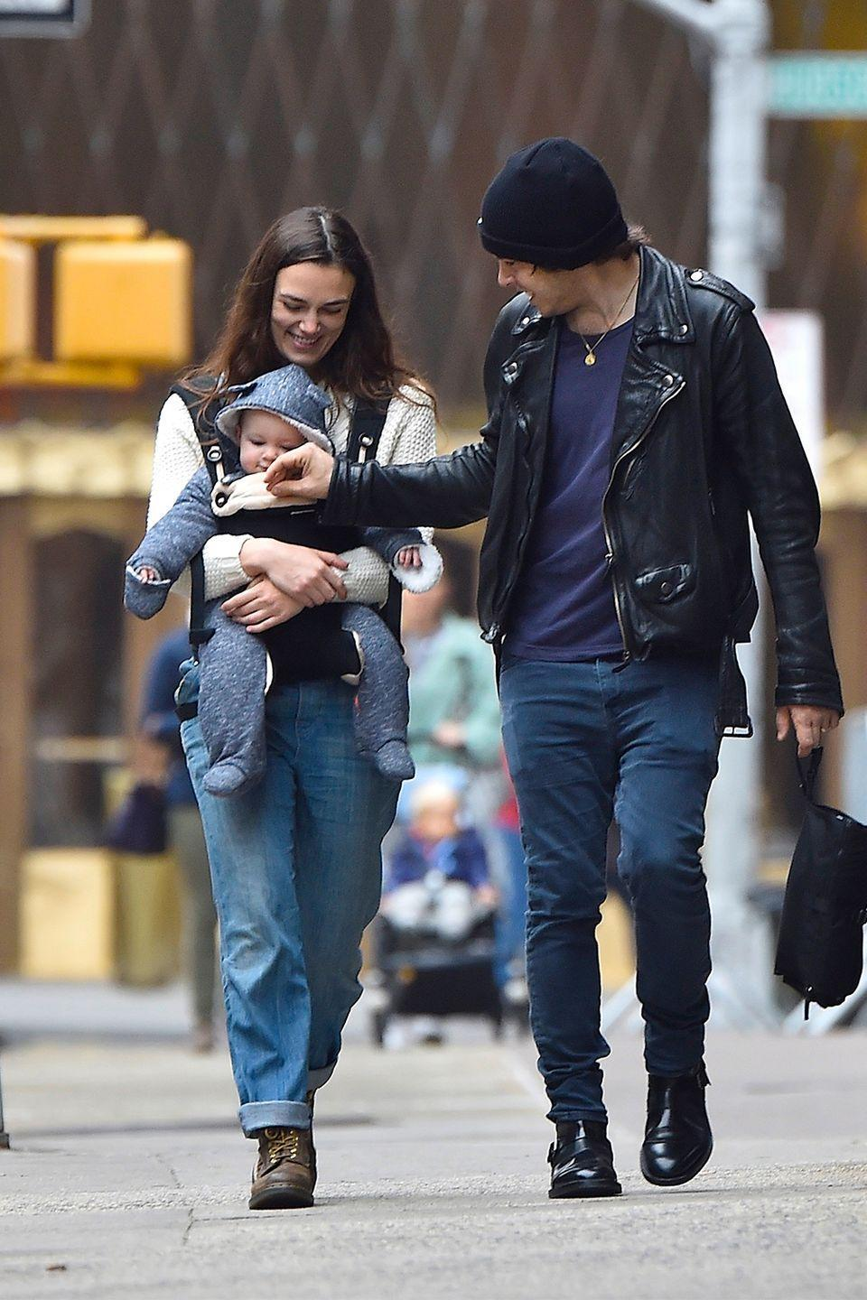 "<p>Knightley's daughter, Edie, came into the world in 2015. Knightley and husband James Righton decided to <a href=""http://www.dailymail.co.uk/tvshowbiz/article-3194004/Keira-Knightley-finally-reveals-daughter-s-gets-candid-post-baby-body-interview.html"" rel=""nofollow noopener"" target=""_blank"" data-ylk=""slk:keep her name a secret"" class=""link rapid-noclick-resp"">keep her name a secret</a> for two months. Since announcing the name, Knightley has been more forthcoming about her daughter. She recalled the time a <a href=""http://www.dailymail.co.uk/tvshowbiz/article-4010562/My-daughter-swore-Trump-got-office-Keira-Knightley-reveals-19-month-old-Edie-s-weird-reaction-election-outcome.html"" rel=""nofollow noopener"" target=""_blank"" data-ylk=""slk:19-month-old Edie said a vulgar word"" class=""link rapid-noclick-resp"">19-month-old Edie said a vulgar word</a> after President Donald Trump was elected. </p><p>""She's literally repeating everything we say so we're having to be really careful..."" Knightley said. ""I brought her into bed and she's like this watching the television completely silently and totally still for about four minutes and she rolls over onto her back and she closes her eyes and she goes 'Fuck!' I'm very proud."" </p>"