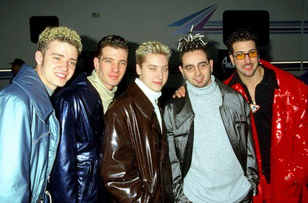 PHOTO: From left, Justin Timberlake, JC Chasez, Lance Bass, Chris Kirkpatrick and Joey Fatone Jr. of NSYNC pose for a photo. (Jim Smeal/WireImage/Getty Images, FILE)