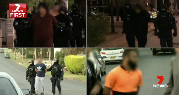 15 terror attacks have been stopped in Australia in the last two years. Photo: 7 News.