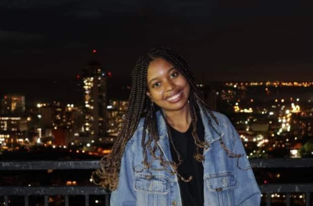 Nikisha Browne is a first-year graduate student at the University of Toronto's Factor-Inwentash Faculty of Social Work and student social worker with the Talk It Out clinic. (Supplied - image credit)