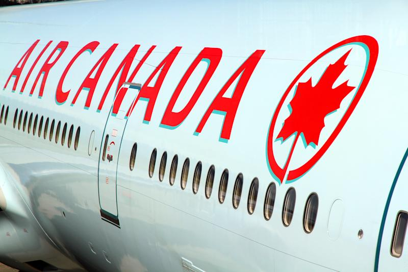 Vancouver, Canada - June 8, 2014: An Air Canada jet waiting at the Vancouver international Airport.